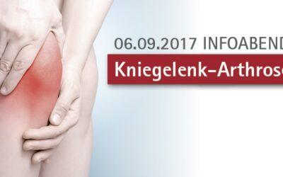 06.09.2017: Kniegelenk-Arthrose – Infoabend