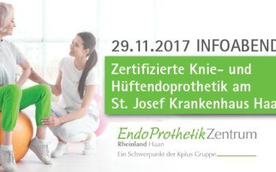 29.11.2017: Zertifizierte Knie- und Hüftendoprothetik