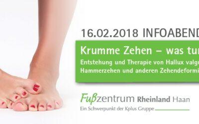 16.02.2018: Krumme Zehen – was tun?