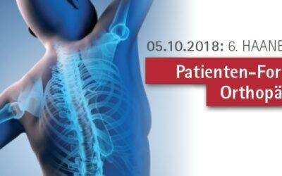 05.10.2018: 6. Haaner Patienten-Forum Orthopädie