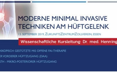 "13.09.2019: Fortbildungskurs ""Moderne minimal invasive Techniken am Hüftgelenk"""