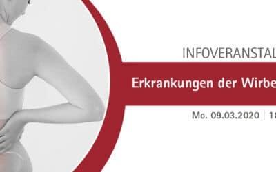 09.03.2020: Erkrankungen der Wirbelsäule  – Patientenveranstaltung