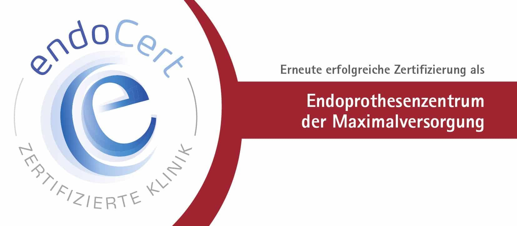 Gelenkzentrum Bergisch Land - Zertifizierung Endoprothesenzentrum der Maximalversorgung
